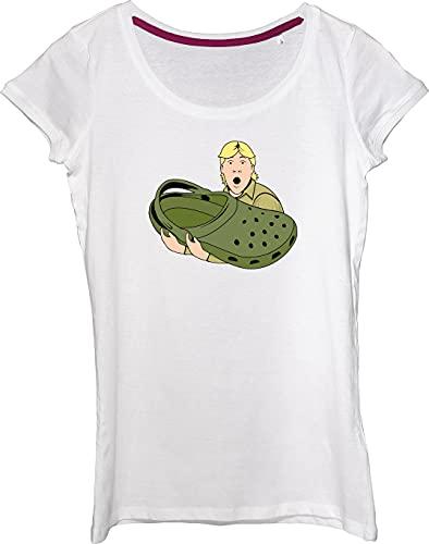 Famosa camiseta Australian Wildlife Expert Crocodile Hunter Sandal Parody para mujer.