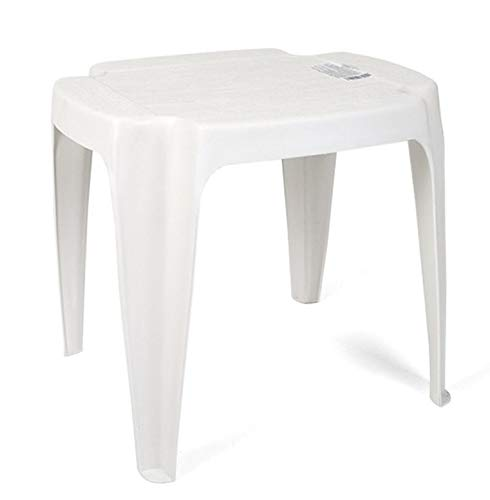 Ipae-Progarden Siusi empilable Table d'appoint, Blanc, 42 x 37 x 38 cm