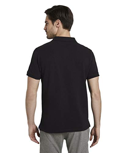TOM TAILOR Herren Poloshirts Basic Poloshirt Black,XL