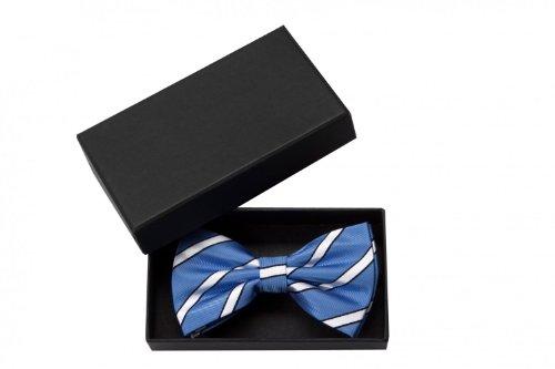 Fabio Farini Noeud papillon de en blu blanc noir
