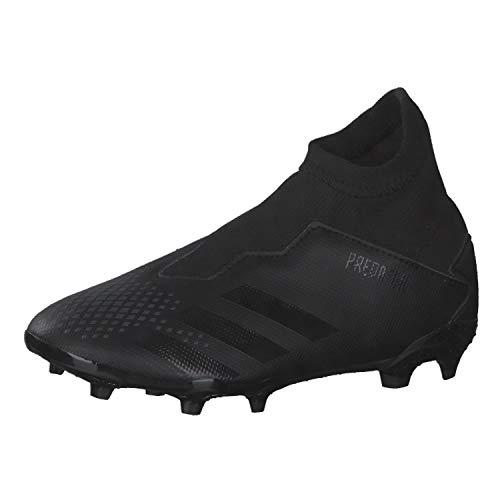 adidas Predator 20.3 LL FG J, Zapatillas Deportivas, Core Black/Core Black/DGH Solid Grey, 34 EU
