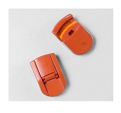 Tragbarer Mini-Wimpernzange, langes Locken, partieller Wimpernzange, Ersatzpolster-Brown