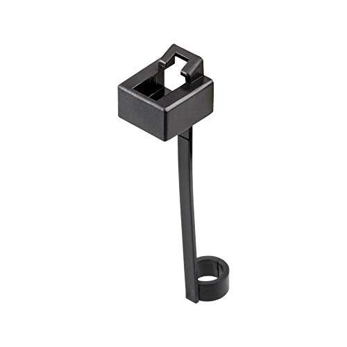 Goobay 50526 Staubschutz für RJ45 Stecker LAN, ISDN mit Kabelfixierung, 10 Stück schwarz