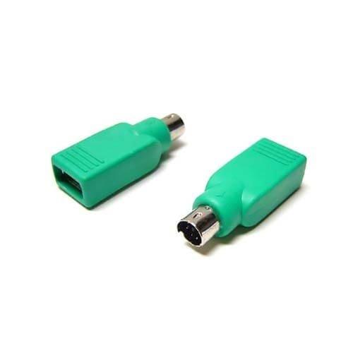 CABLEPELADO Adaptador USB a PS2 para Raton Verde