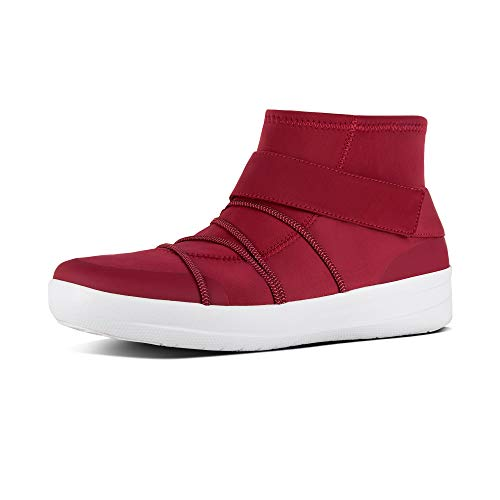 FitFlop Womens Neoflex High Top Sneaker Shoes, Royal Red, US 6
