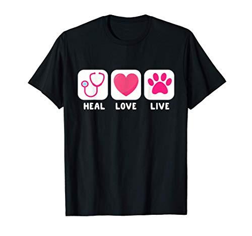 Veterinario Veterinario Regalo veterinario para mujeres Heal Camiseta
