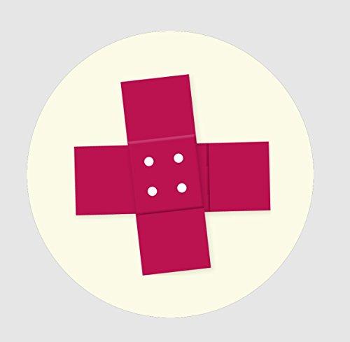 WANDLER® by Infinity Boxes Magnet-Karte, 2er-Set Kreuz, rund, Ø 5 cm
