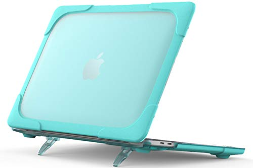 PZOZ MacBook Air 13 2337(M1)/A2179 / A1932 (2020 2019 2018 Release) Case Cover with Folding Stand for MacBook Air 13' Retina Display and Touch ID, MacBook Air Case (Sky Blue)