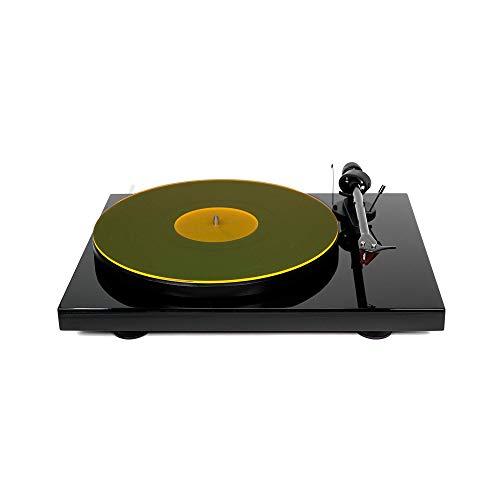 Hudson Hi-Fi Plattenspieler- Matte aus Acryl - YellowLit - LP Slipmat