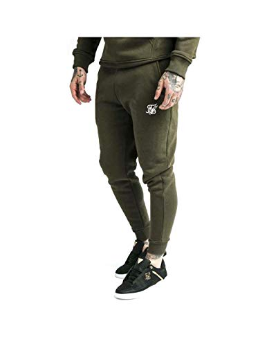 Sik Silk Pantalón Muscle Fit Verde/BCO L