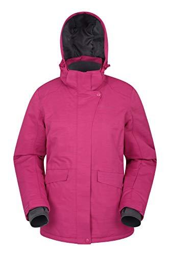 Mountain Warehouse Strukturierte Snowfall-Skijacke für Damen - isolierte Damenjacke, wasserfeste Winterjacke, warm, atmungsaktiv, Schneerock - Skifahren, Snowboarden Rosa 46