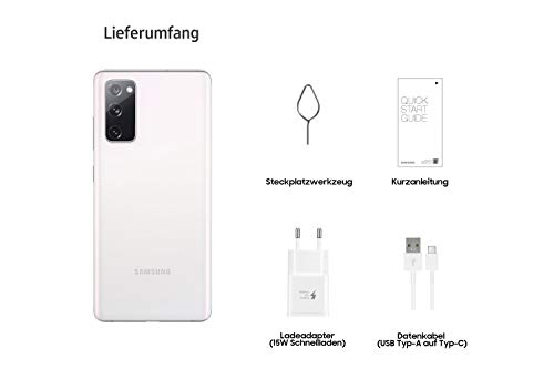 Samsung Galaxy S20, Android Smartphone ohne Vertrag, 6,5 Zoll Super AMOLED Display, 4.500 mAh Akku, 128 GB/ 6 GB RAM, Handy in Weiß inkl. 36 Monate Herstellergarantie [Exklusiv bei Amazon]