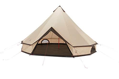Grand Canyon Indiana 10 - Rundzelt für 10 Personen | Familien-Zelt, Gruppen-Zelt, Pyramidenzelt, Tipi | Mojave Desert (Beige)