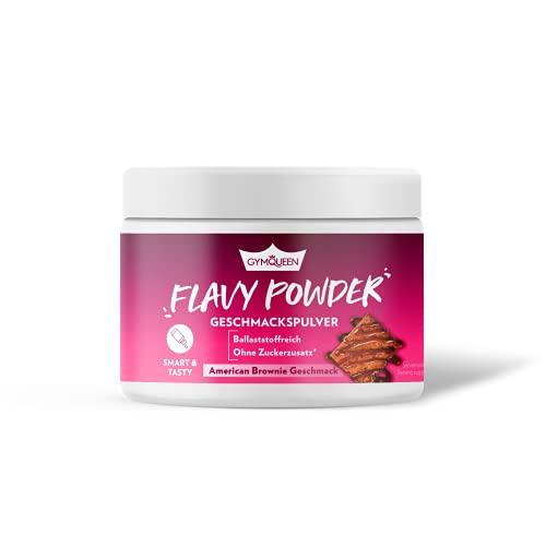GymQueen Flavy Powder 200g, Geschmackspulver American Brownie Aroma, nur 10 kcal pro Pulver Portion, Kalorienarm, Flavour Powder zum Süßen, Backen und Verfeinern von Lebensmitteln