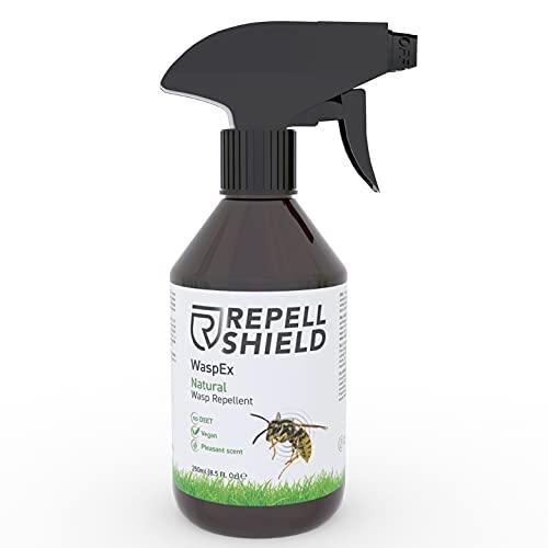 RepellShield Spray Vespe e Calabroni - Allontana Vespe, Api e Calabroni - Spray per Api e Vespe Organico - Repellente Anti Vespe Esterno e Interno - Alternativa Bio a Insetticida Vespe, 250 ml