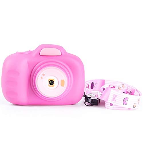 WANGCHAO Cartoon Dubbele Lens Kindercamera, 2.3 Inch Scherm 12MP Ingebouwde-Fun fotolijst Continue opnamemodus USB-opladen (geen geheugenkaart), roze