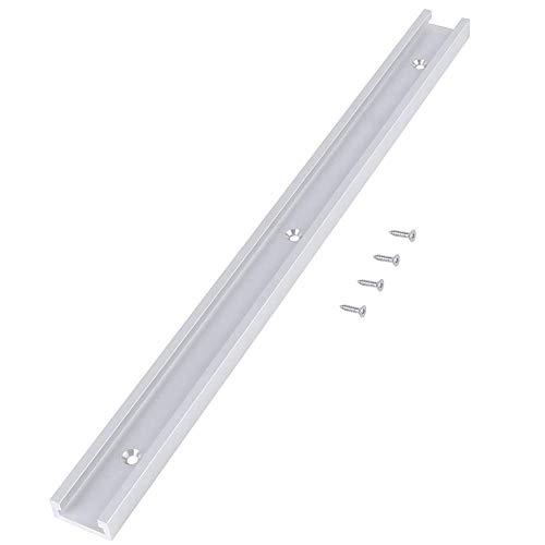 Ranura en T - Riel en T de aleación de aluminio Riel en T con tornillos autoadhesivos para herramienta de carpintería de mesa, 400 mm