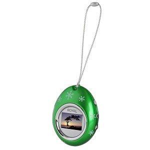 "1.1"" Royal PF11 Holiday Ornament USB Digital Photo Frame Keychain (Green)"