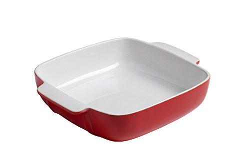 Pyrex 8013099 Signature Plat à Four Carré Rouge en Céramique 22 x 22 cm