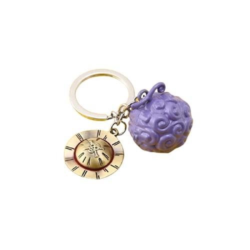 One Piece Keychains no box Luffy ACE Law Devil Fruit Metal Key Chain Ring Pendant Anime Keychain Key Holder Charm Jewelry