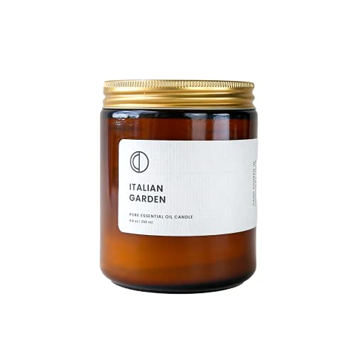 Italian Garden essential oil soy wax candle 250ml. Handmade by OCTŌ in London
