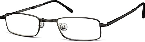Montana Sunoptic RF25B Strength Plus 2.50 Black Folding Reading Glasses with Case by MONTANA