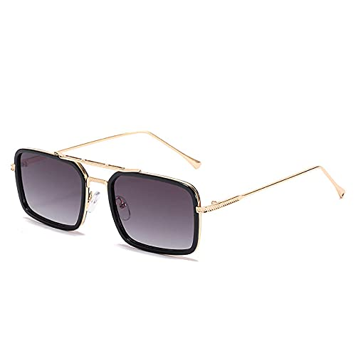 Doble haz pequeño marco gafas de sol mujeres marea moda marco gafas de sol marea azul rayos plana