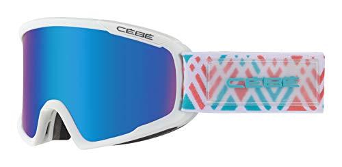 Cébé Unisex– Erwachsene Fanatic M Skibrillen Matt Indian Medium, White/Blue