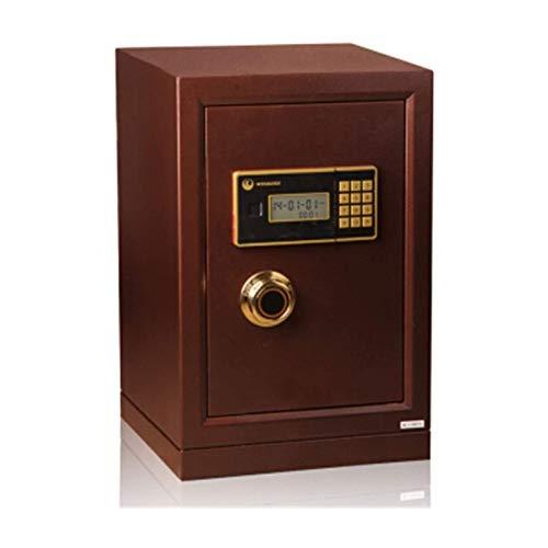 ZXNRTU Cajas de seguridad para el hogar, Servicio de caja fuerte Productos de oficina completamente de acero Mini en la pared Caja de seguridad electrónica for el hogar y la oficina (Color: Marrón, Ta