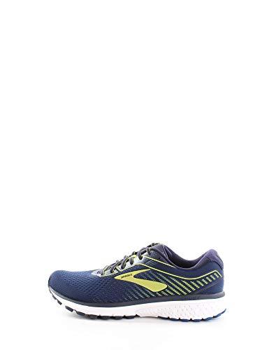 Brooks Ghost 12 Men's Running Shoes (Brooks Ghost 11) - Peacoat Blue Tender Shoots, size: 46 EU