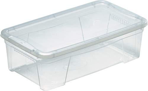 M Home Caja de Almacenaje K2 4.5 l, Translúcido, 8.7 litros