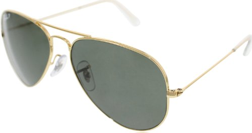 Verde Ray-Ban Clásico Aviator Sunglasses Arista Oro Cristal Polarizado Rb3025 001/58 55