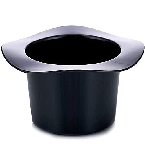 Cubo de hielo con pinzas para hielo Cubo de hielo de 1,2 L en forma de sombrero Cubo de hielo ovalado engrosado y duradero Soporte para enfriador de agua Cubo de hielo para fiestas, bar y bar en casa