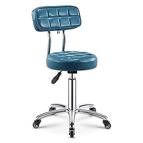 SXFYHXY Drehstuhl,armloser Drehstuhl Bürostuhl Mit Rädern Pu-Leder Moderner Lounge Chair