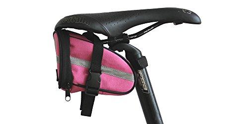 BTR Kompakte Rosa Fahrradsatteltasche mit schnell zu öffnenden Schnallen - Wasserbeständig