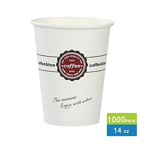 Wegwerp Cold Drink Party Cups Biologisch afbreekbaar 9.5 Oz Papier Koffie Cups 1000 Wegwerp Drank Cups voor warme en koude dranken voor Party Shops Kiosks Concessie Stands en meer Bulk Party Cups