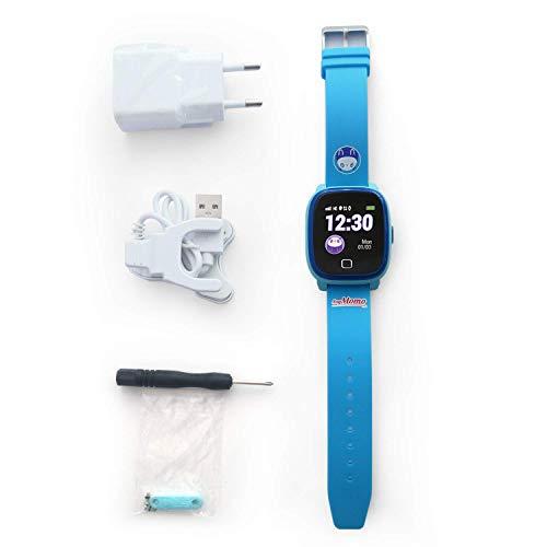 SoyMomo H2O Intelligente Uhr für Kinder mit GPS und SOS-Knopf, Handy für Kinder mit SIM-Kartenslot um Anrufe und Nachrichten zu ermöglichen, Smartwatch für Kinder mit GPS-Tracker Wasserdicht (Blau)