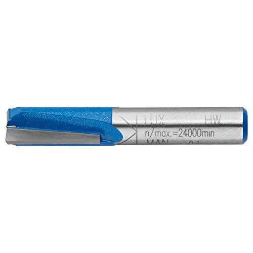 LUX-TOOLS HM Bohrnutenfräser 10mm | Einzelner Nutfräser mit 10mm Ø, 20mm Fräser-Länge und 8mm Schaft