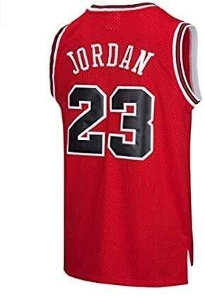 ZEH Camiseta de baloncesto para hombre de la NBA Michael Jordan 23 Chicago Bulls Retro Gym Chaleco deportivo (color: rojo, tamaño: M) FACAI (color: rojo, tamaño: M)