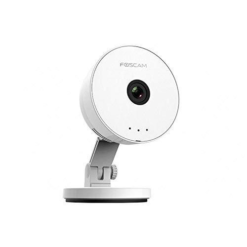 Foscam C1Lite-Cámara IP inalámbrica, Cámara de vigilancia HD, Lente 1MP 115°, resolución 720p, Color Blanco