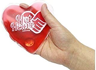 Hand Warmers Hot Cold Reusable Pack - by Hot Heart Cloth Backing 2 Reusable Hand Warmers, Microwavable Heat Pads, Soothing Cooling Gel Compress and Lunch Box Freezer Ice Pack