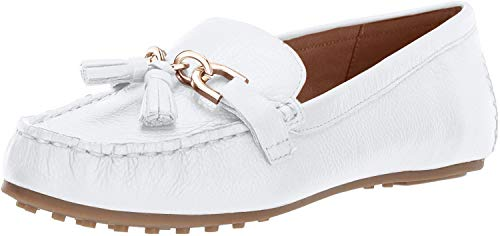 Aerosoles Women's Soft Drive Loafer,WHITE LEATHER,9 M US
