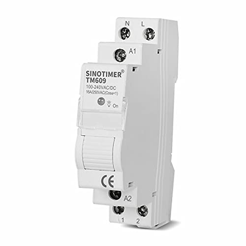 Persdico Inicio Inteligente 18mm 1P WiFi Control remoto de la aplicación Disyuntor Interruptor de sincronización Temporizador de escalera Carril Din 100 V-240 V Entrada de CA