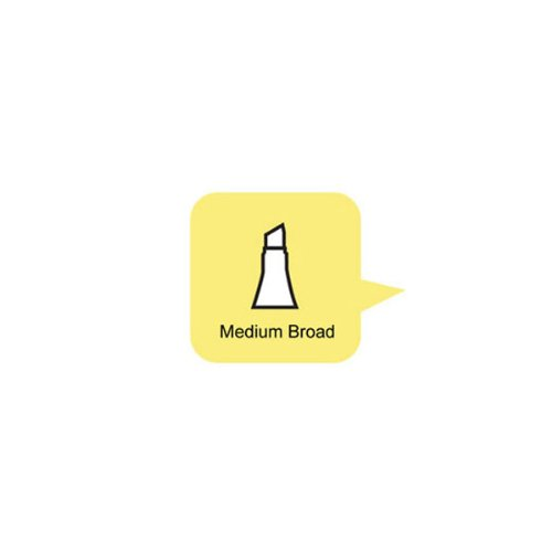 Copic Medium Broad Replacement Nib for Sketch/Ciao Markers, Package of 10 (MEDBRDN)