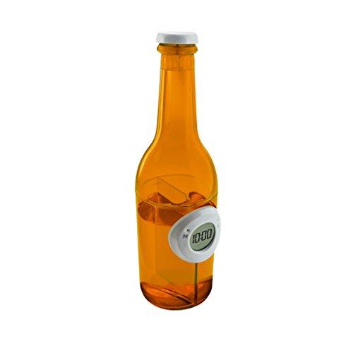 Baoblaze Wasserbetriebene Uhr Digitaler Kalender Hydrodynamische Uhr Pick - Orange Bierflasche