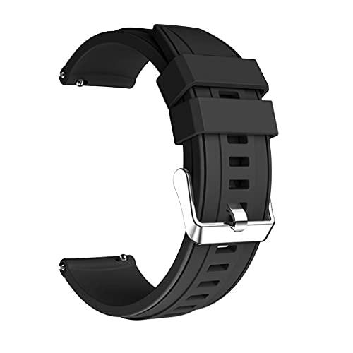 SJYDQ Para correas de reloj de doble color con correa de 45 mm Pulsera deportiva Correa de reloj de 22 mm Para reloj galaxy 46 mm (Color : Black)