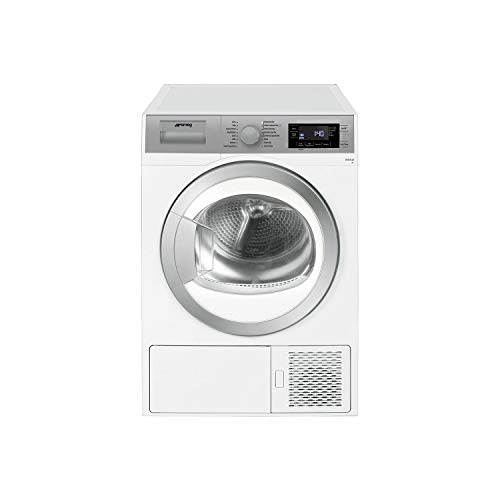 Smeg DHT81LUK 8kg A+ Freestanding Heat Pump Condenser Tumble Dryer White