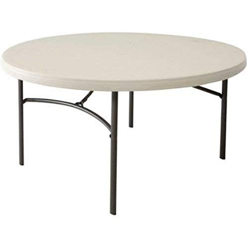 Lifetime Table Pliante 80121 152 cm Rond Commercial – Amande