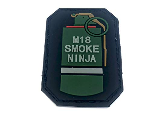 Smoke Ninja Granate Airsoft Klettverschluss PVC Flicken Patch