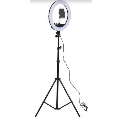 Kit Completo Anel Luz 35cm Com Tripé Dimmer Youtuber Selfie Pro + suporte celular